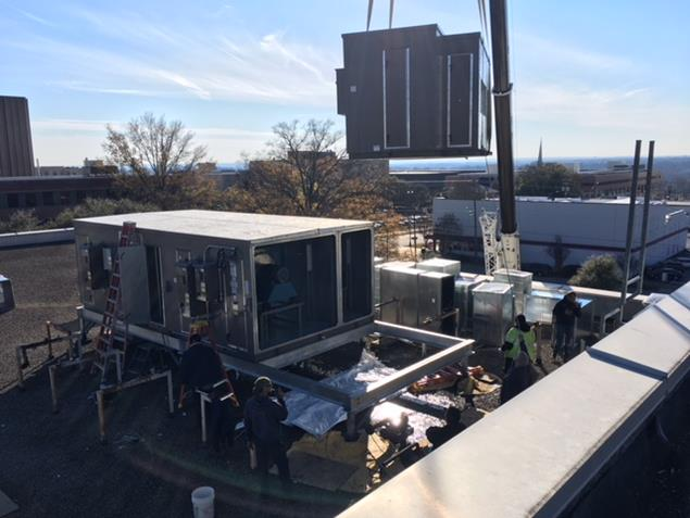 Cullum Services in Columbia Finishes Custom AHU Replacement at USC
